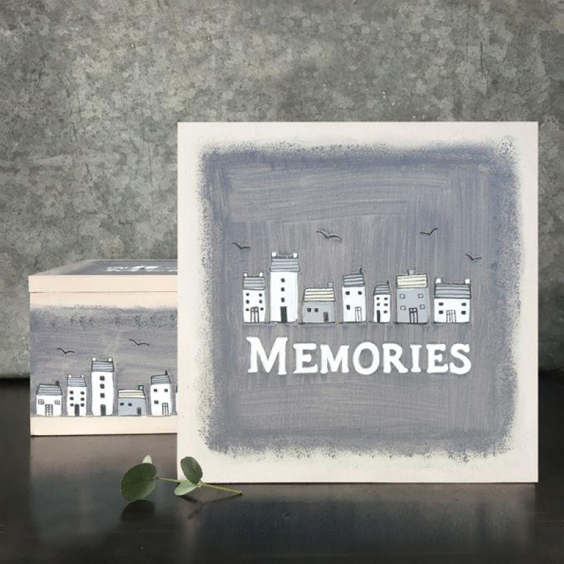 Κουτί ξύλινο - Memories / Σπίτια 21εκ.