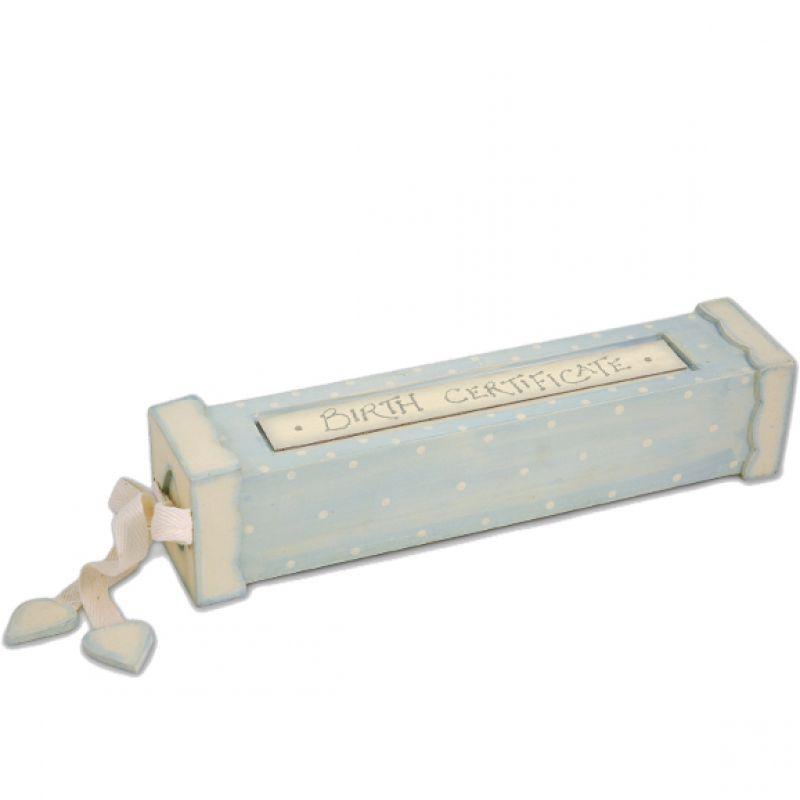 Κουτί πιστοποιητικών σιέλ - Γέννηση