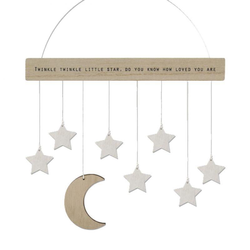 Κρεμαστό με φεγγάρι και αστέρια 17.5εκ.