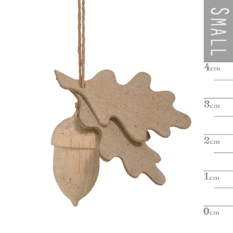 Βελανίδι ξύλινο με φύλλα