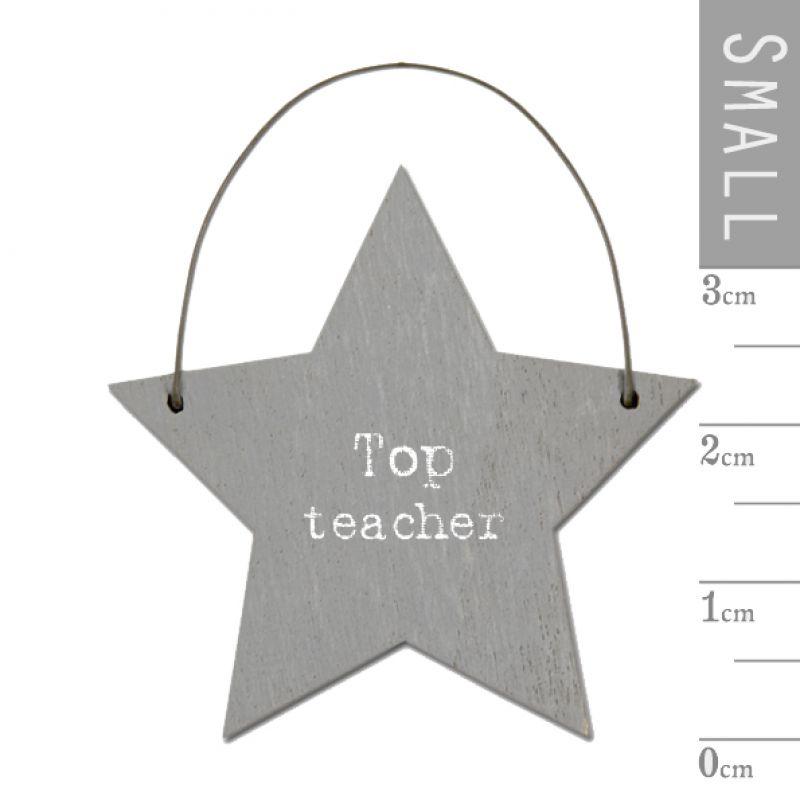 Επιγραφή αστεράκι - Top teacher