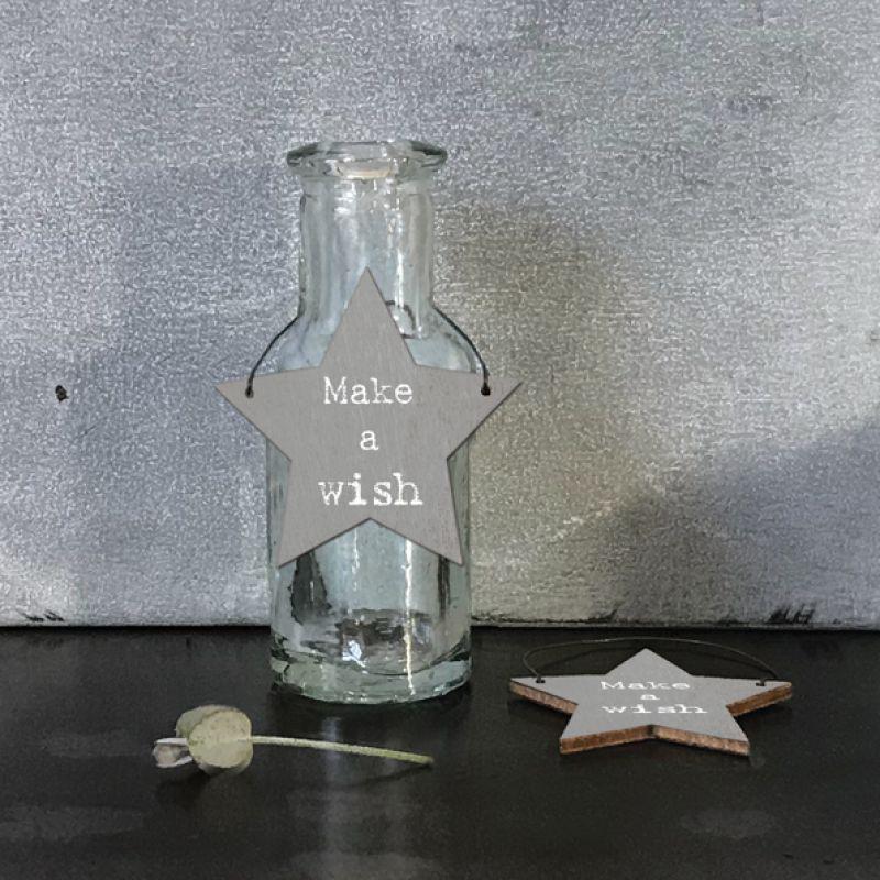 Επιγραφή αστεράκι - Make a wish