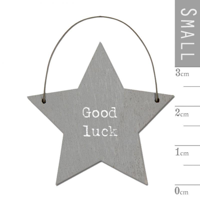 Επιγραφή αστεράκι - Good luck