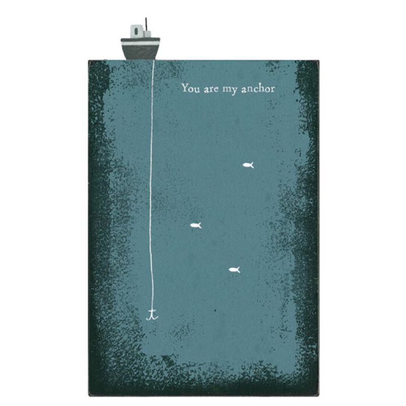 Ξύλινο block-You are my anchor