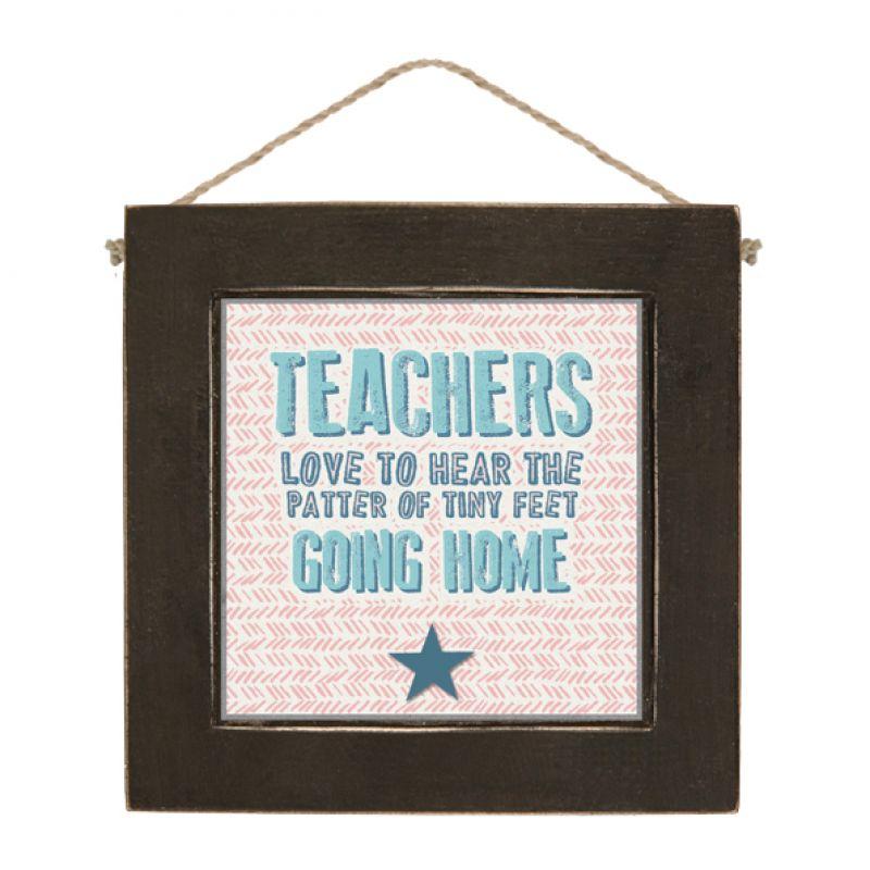 Μαύρο καδράκι 10εκ.-Teachers love…