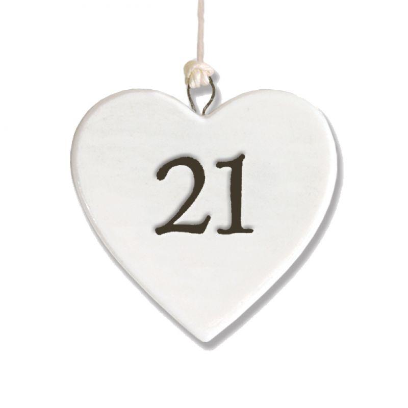 Πορσελάνινη Καρδιά 4,5εκ. - 21