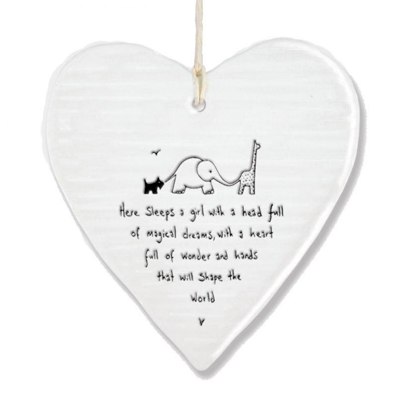 Wobbly round heart-Here sleeps a girl