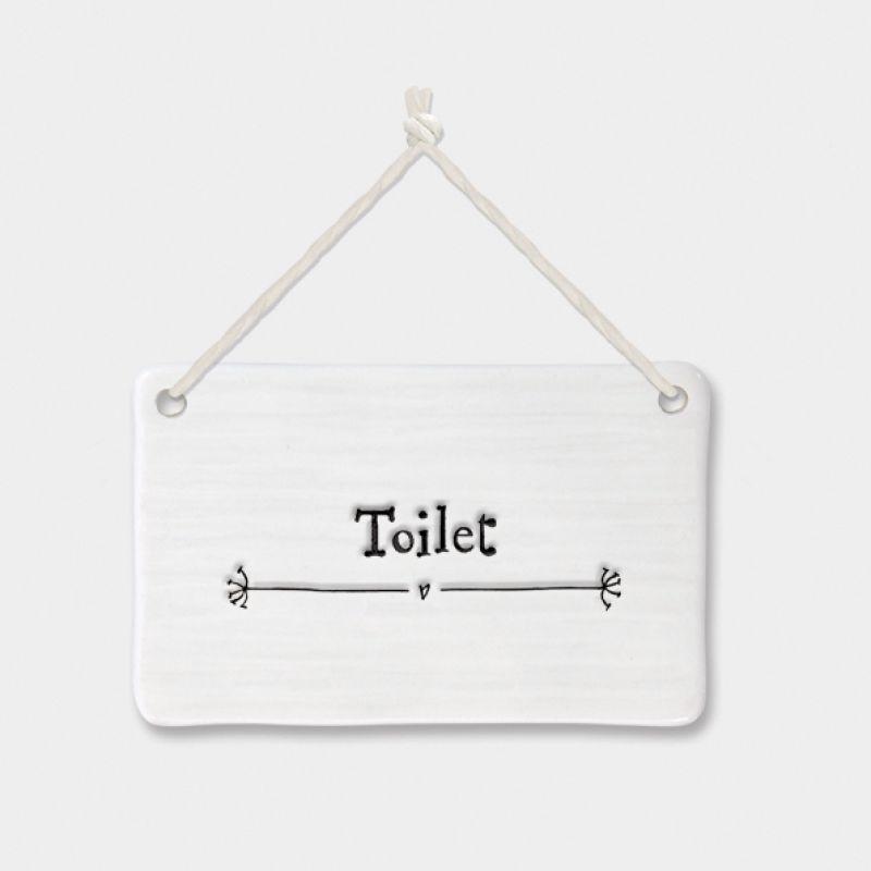 Πορσελάνινη επιγραφή - Toilet