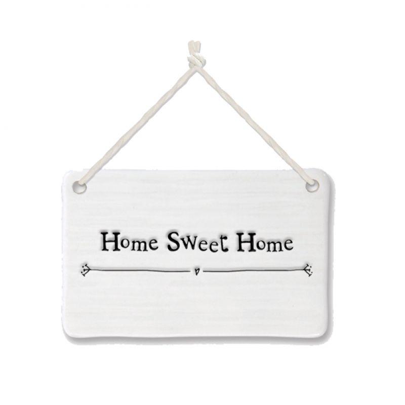 Πορσελάνινη επιγραφή - Home sweet home   Synchronia.gr