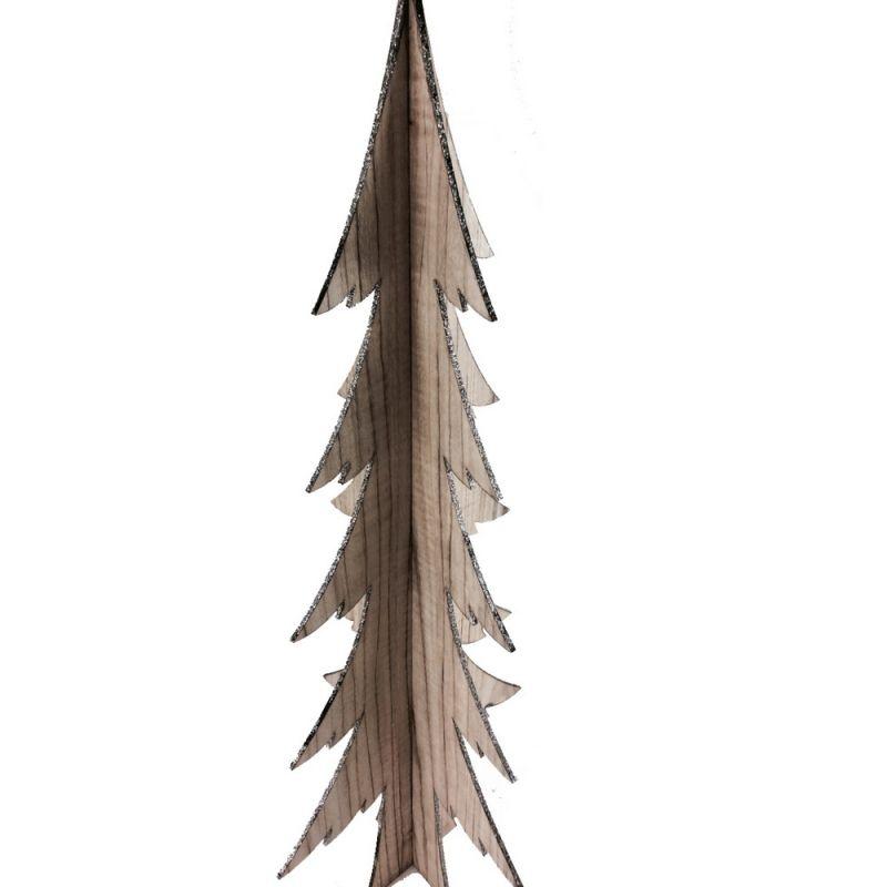 Δέντρο ξύλινο με γκλίτερ - Μεγάλο 58,5εκ.