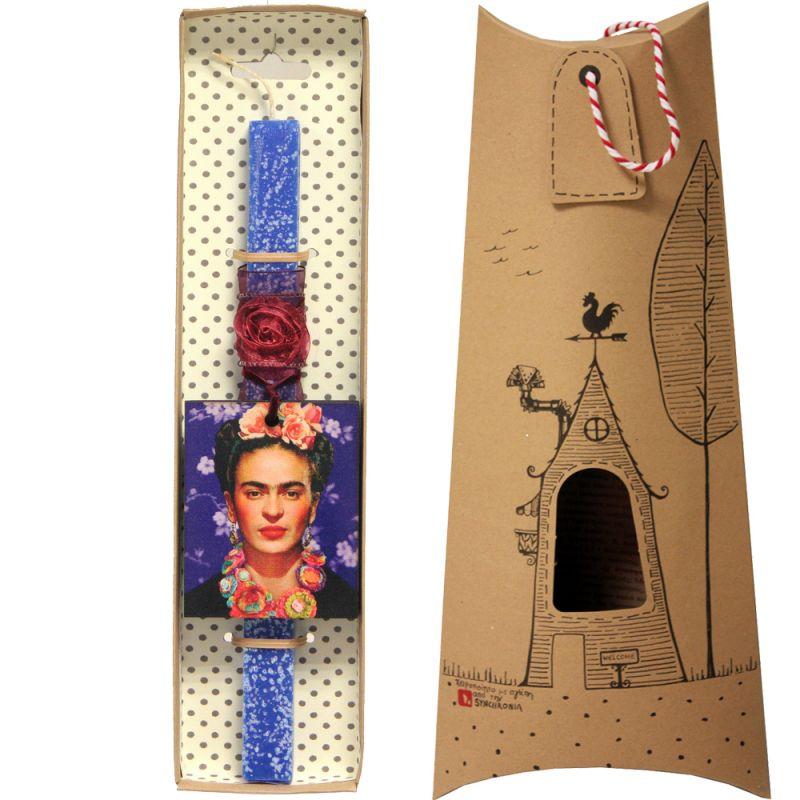 Λαμπάδα Frida Kahlo - Μπλε