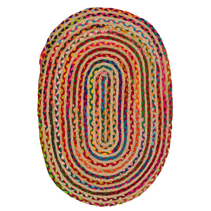 Χαλί 60x90 Οβάλ πολύχρωμο chindi