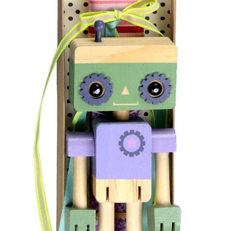 Λαμπάδα Ξύλινο ρομπότ - Μωβ