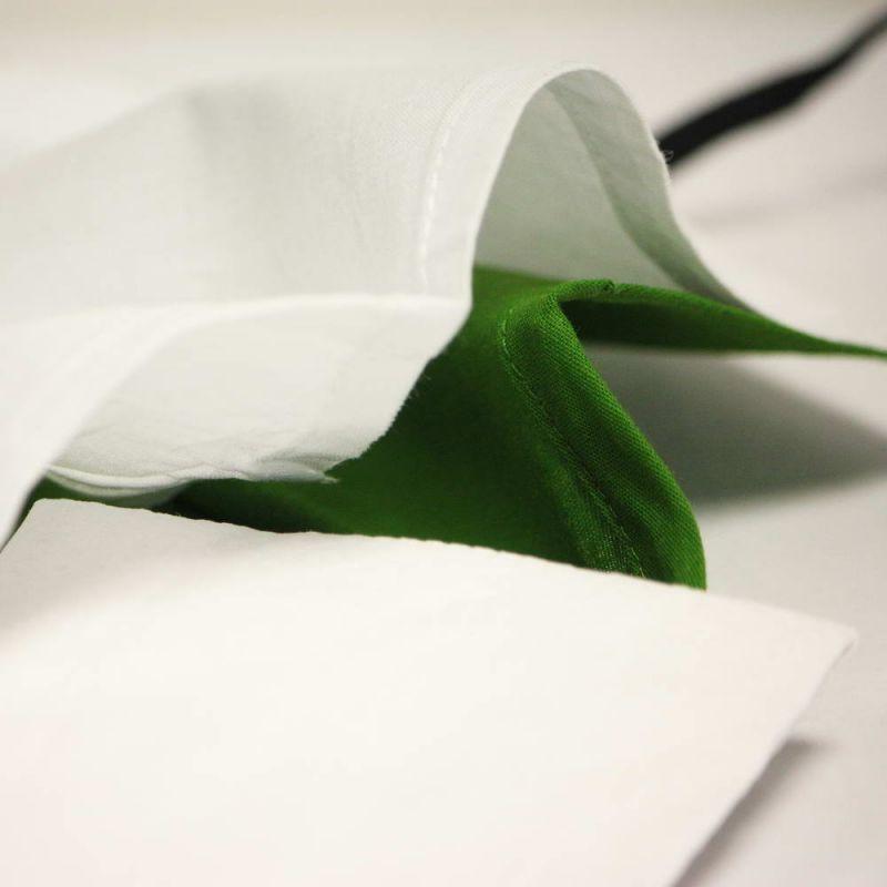 Μάσκα υφασμάτινη MD Green Grass - με θήκη φίλτρου και σύρμα