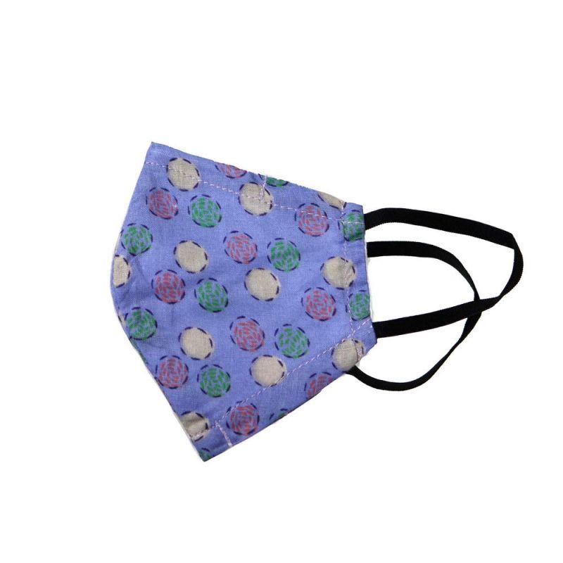 Μάσκα υφασμάτινη (SM) Blu Dots - με θήκη φίλτρου και έλασμα