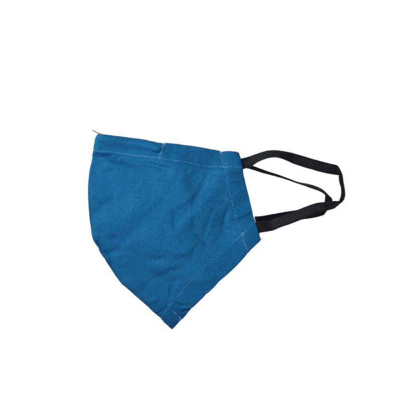 Μάσκα υφασμάτινη (SM) Μπλε - με θήκη φίλτρου και έλασμα