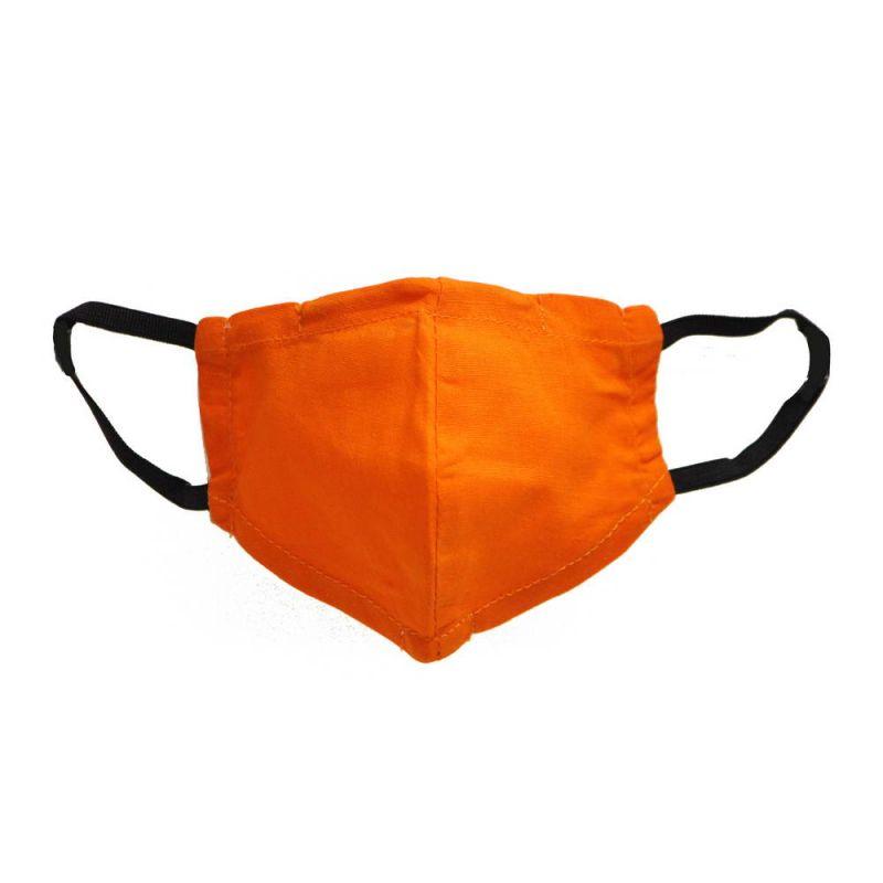 Μάσκα υφασμάτινη παιδική XS Orange - με θήκη φίλτρου και σύρμα
