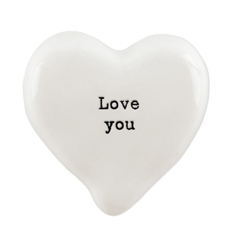 Βότσαλο καρδιά λευκή-Love you