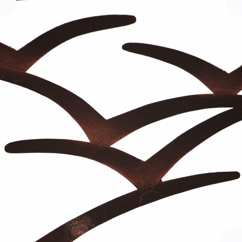 Σύνθεση γλάρων τοίχου 53εκ σκουριά