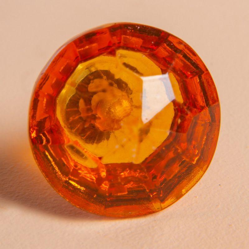 Πόμολο γυάλινο πετράδι - Πορτοκαλί