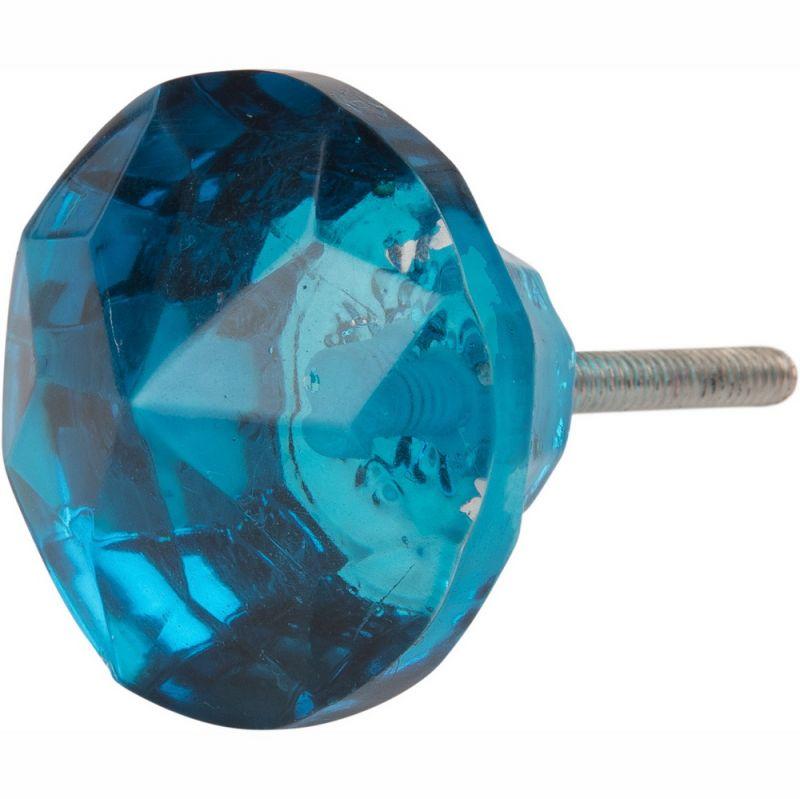 Πόμολο γυάλινο πετράδι - Μπλε