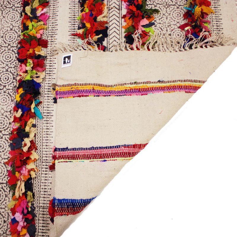 Χαλί 120x180 με σειρές κουρελάκια πολύχρωμα