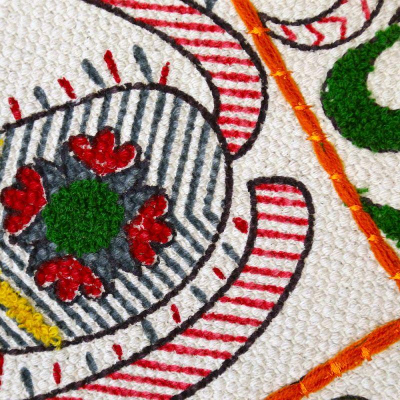 Χαλί 120x180 κεντητό Eden με πομ πομ