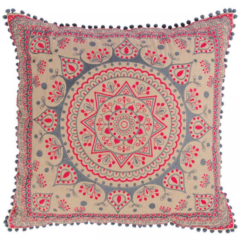 Μαξ. 60x60 Mandala Ροζ/Γκρι