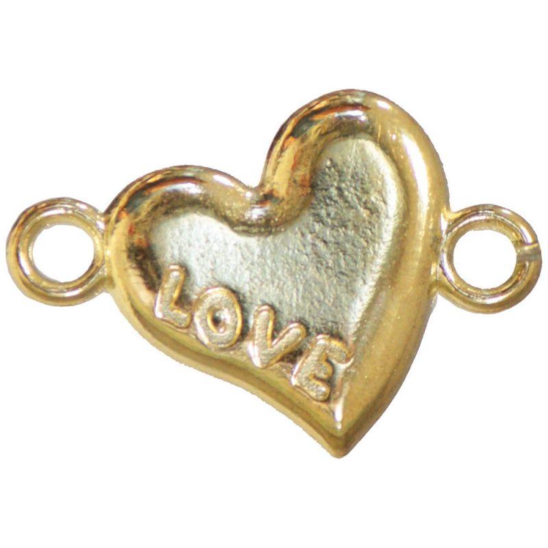 Pebble Heart LOVE - gold
